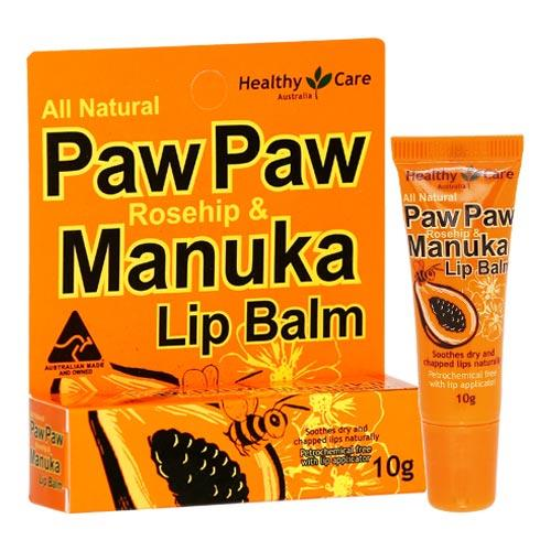 Healthy Care Paw Paw Rosehip & Manuka Lip Balm 10g