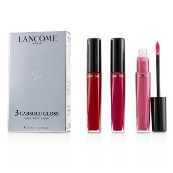 Lancome 3 L'absolu Gloss (#317 Sheer, #378 Matte, #132Cream) 3pcs Make Up
