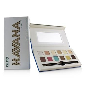 Cargo Havana Nights Eye Shadow Palette (12x Eyeshadow, 1x Dual End Brush) 12×0.8g/0.03oz Make Up