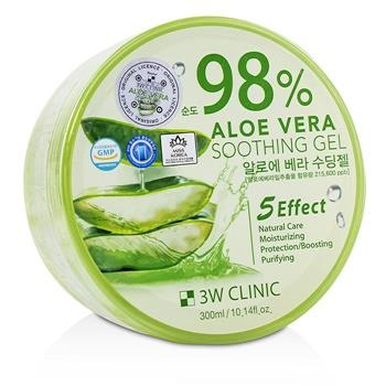3W Clinic 98% Aloe Vera Soothing Gel 300ml/10.14oz Skincare