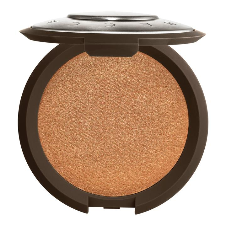 BECCA Cosmetics Shimmering Skin Perfector Pressed Highlighter Chocolate Geode (rich chocolate brown with golden pearl)