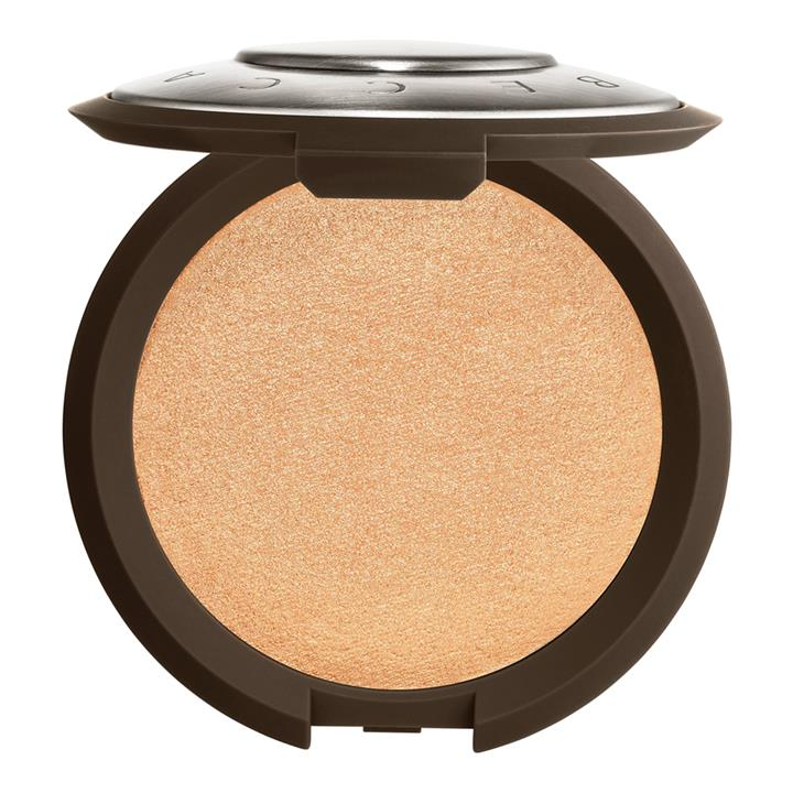 BECCA Cosmetics Shimmering Skin Perfector Pressed Highlighter Champagne Pop (soft gold with pinky-peach pearl)