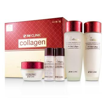 3W Clinic 3W Clinic Collagen Skin Care Set: Softener 150ml + Emulsion 150ml + Cream 60ml + Softener 30ml + Emulsion 30ml 5pcs Skincare
