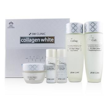 3W Clinic 3W Clinic Collagen White Skin Care Set: Softener 150ml + Emulsion 150ml + Cream 60ml + Softener 30ml + Emulsion 30ml 5pcs Skincare