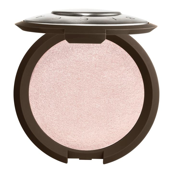BECCA Cosmetics Shimmering Skin Perfector Pressed Highlighter Prismatic Amethyst (pale lavender with golden, violet, and rose duo-chrome pearls)