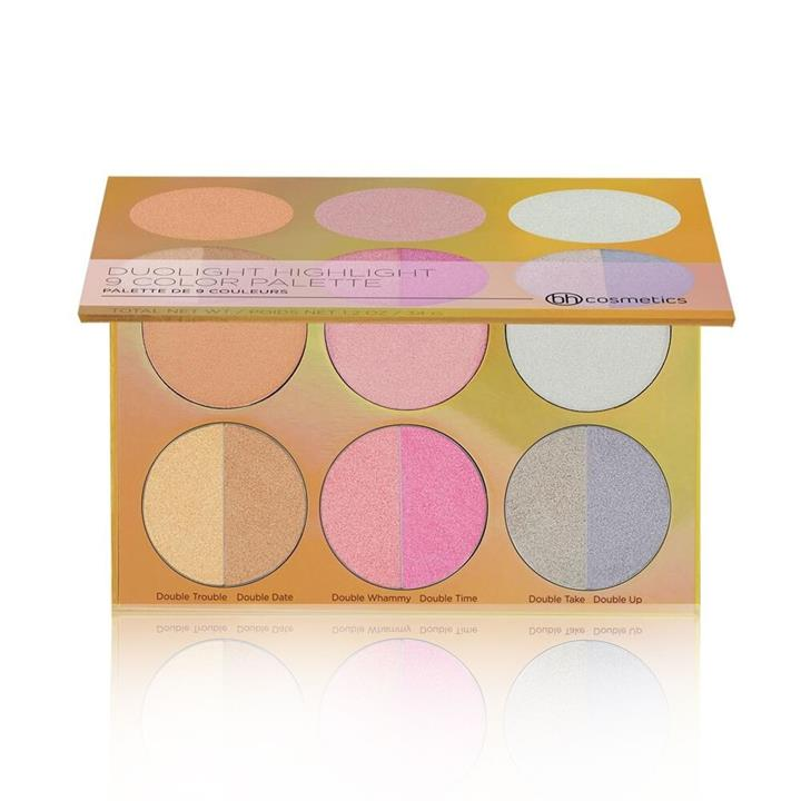 BH Cosmetics Duolight Highlight 9 Color Palette