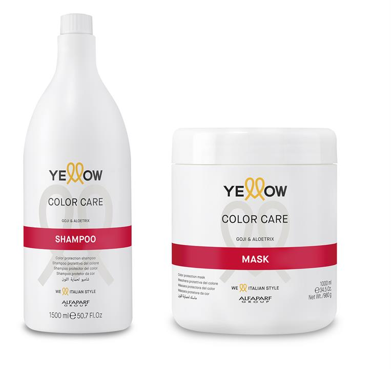 Yellow by Alfaparf Group – Color Shampoo & Mask Supersize Duo 2 items