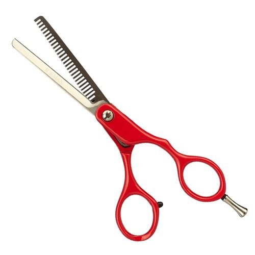 "Iceman Retro 5.5"" Thinning Scissors Red"