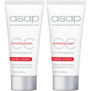 2 x asap Cc Correcting Cream 75ml