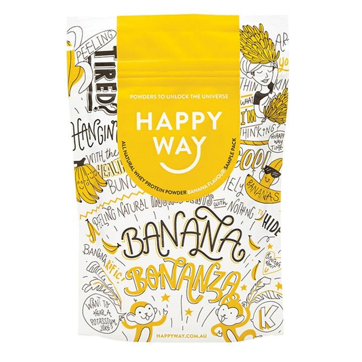 Happy Way Whey Protein Powder Banana 60g