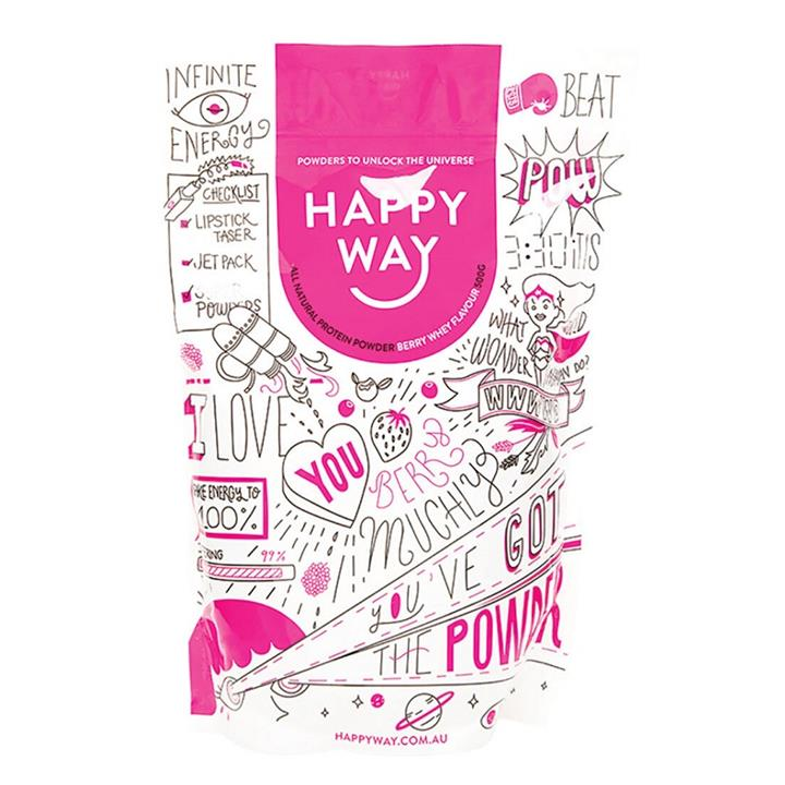 Happy Way Whey Protein Powder Berry 500g