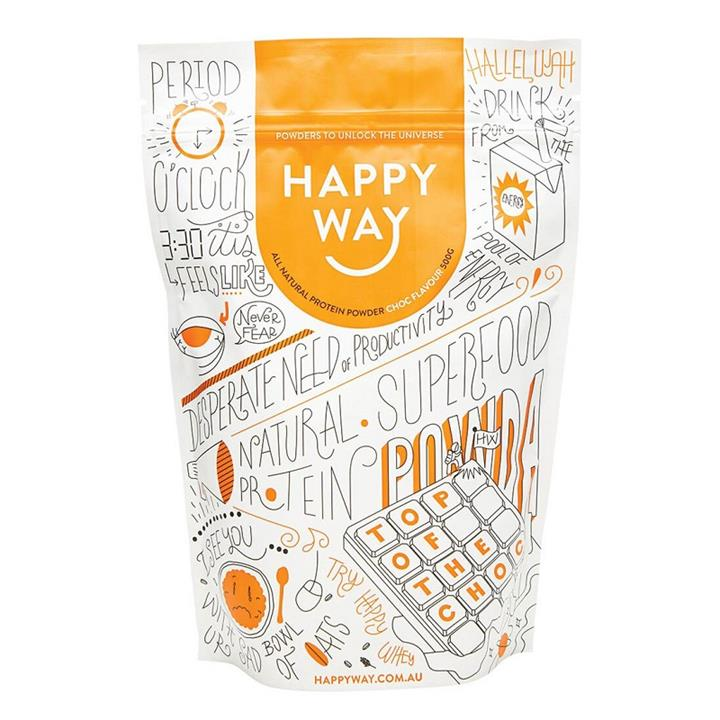 Happy Way Whey Protein Powder Chocolate 500g
