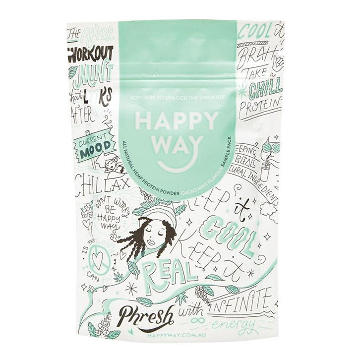 Happy Way Hemp Protein Powder Vegan Cacao Mint 60g