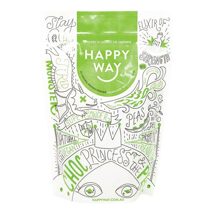 Happy Way Pea Protein Powder Vegan Chocolate 500g