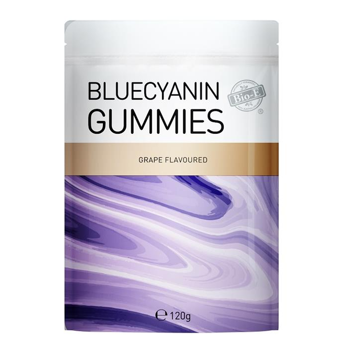 Bio-E Bluecyanin Gummies Grape Flavoured 120g