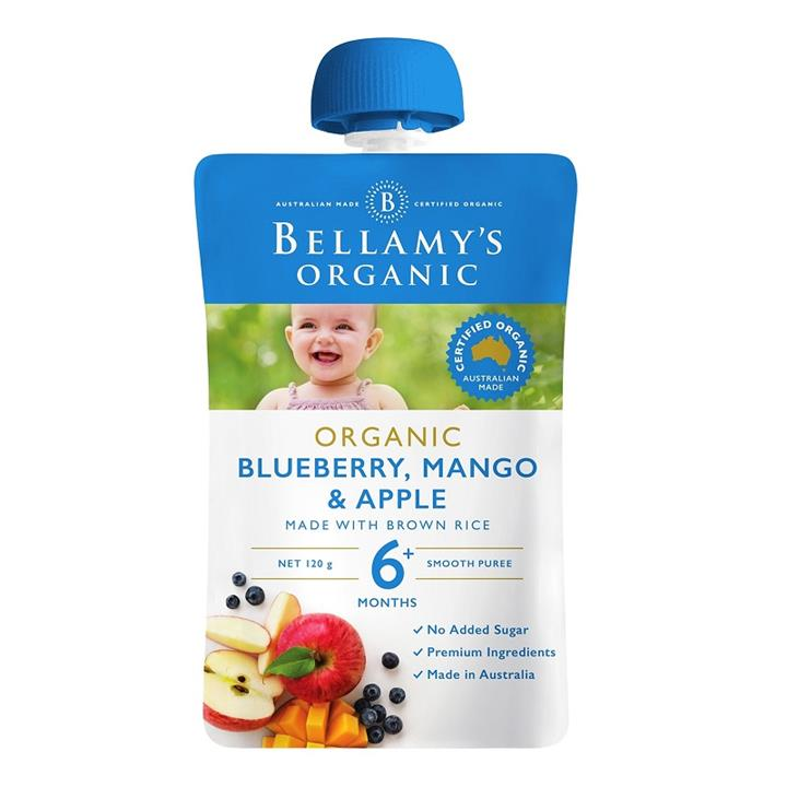 Bellamy's Organic Blueberry, Mango & Apple 120g