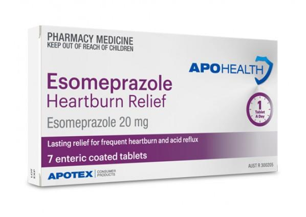 ApoHealth Esomeprazole 20mg Enteric Coated Tab X 7 (Expiry 07/2020)