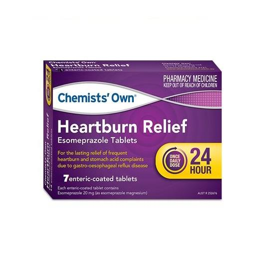 Chemists' Own Heartburn Relief Esomeprazole 20mg Tab X 7