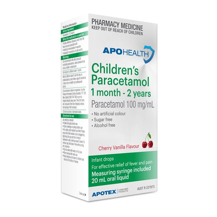 ApoHealth Children's Paracetamol 1 Month – 2 Years 20ml