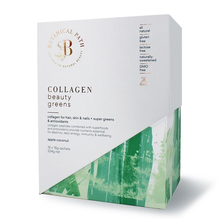 Botanical Path Collagen Beauty Greens (Apple Coconut) Sachets 18g X 18
