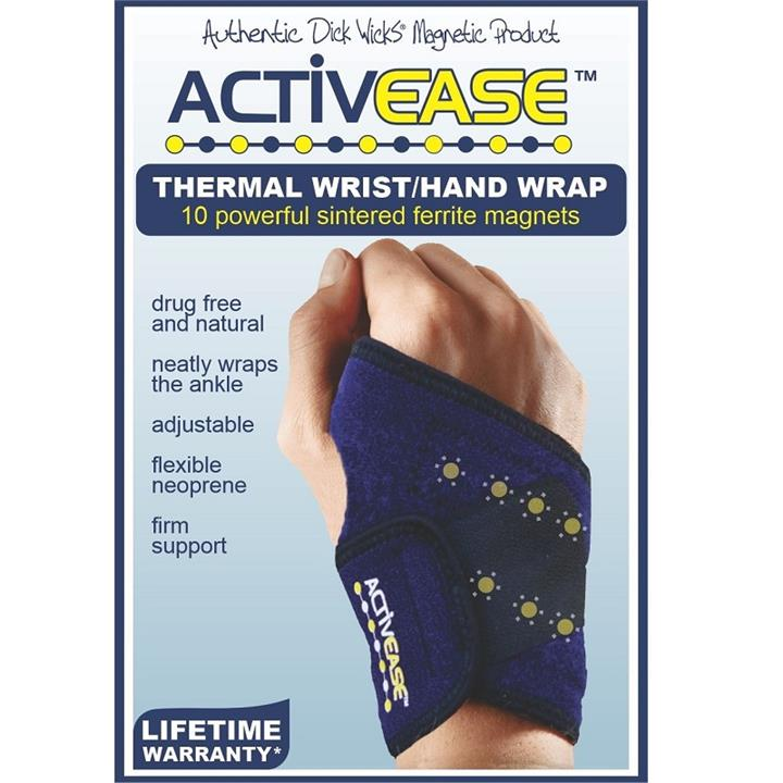 Dick Wicks Activease Thermal Magnetic Wrist/Hand Wrap (One Size)