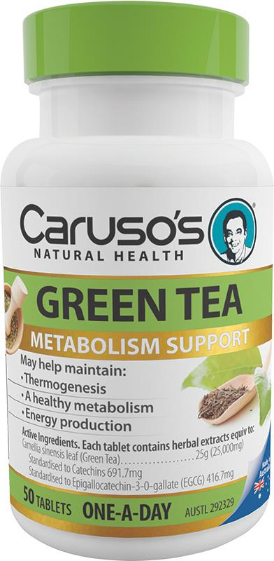 Caruso's Natural Health Green Tea One A Day Tab X 50