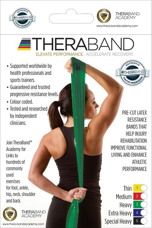 TheraBand Resistance Band Heavy Green Single