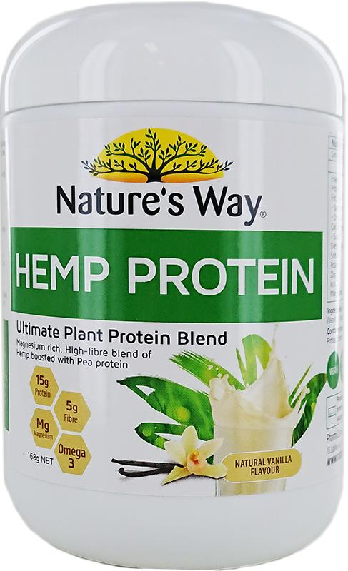 Nature's Way Hemp Protein Raw Vegan Protein (Vanilla) 168g