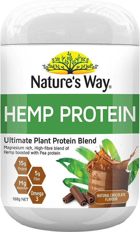 Nature's Way Hemp Protein Raw Vegan Protein (Chocolate) 168g