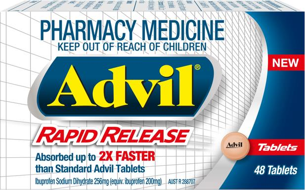 Advil Rapid Release Tab X 48