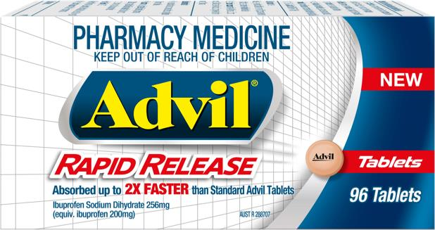 Advil Rapid Release Tab X 96