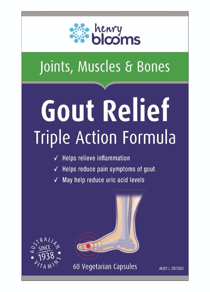 Henry Blooms Gout Relief Cap X 60