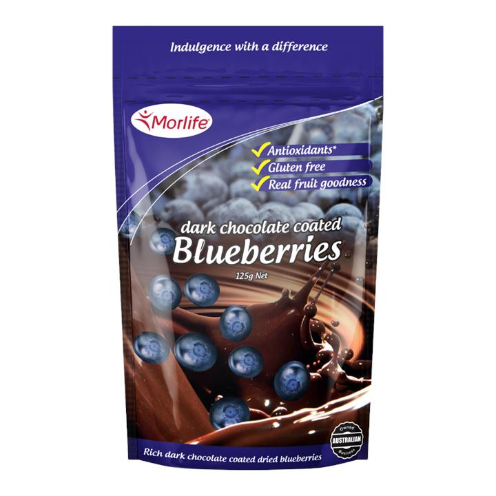 Morlife Chocolate Blueberries 125g