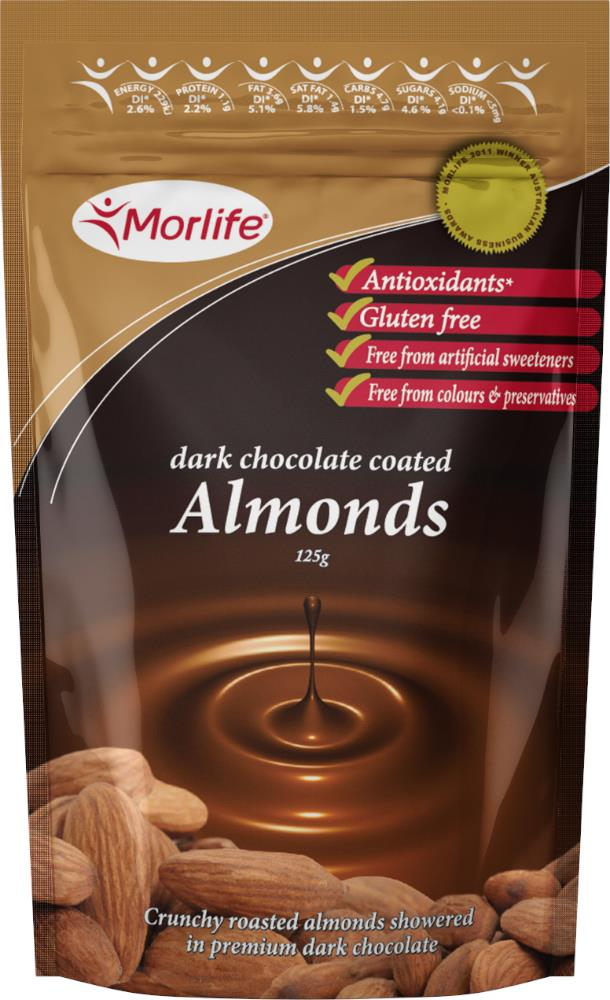 Morlife Chocolate Almond Nuts 125g