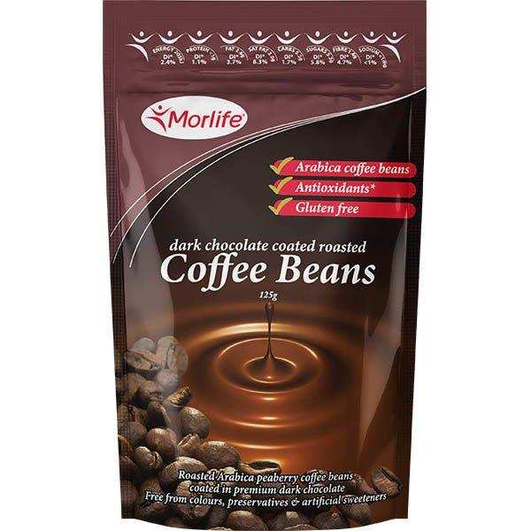 Morlife Chocolate Coffee Beans 125g