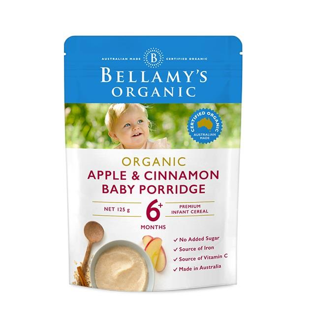 Bellamy's Organic Apple & Cinnamon Baby Porridge 125g (Limit 2 per order)