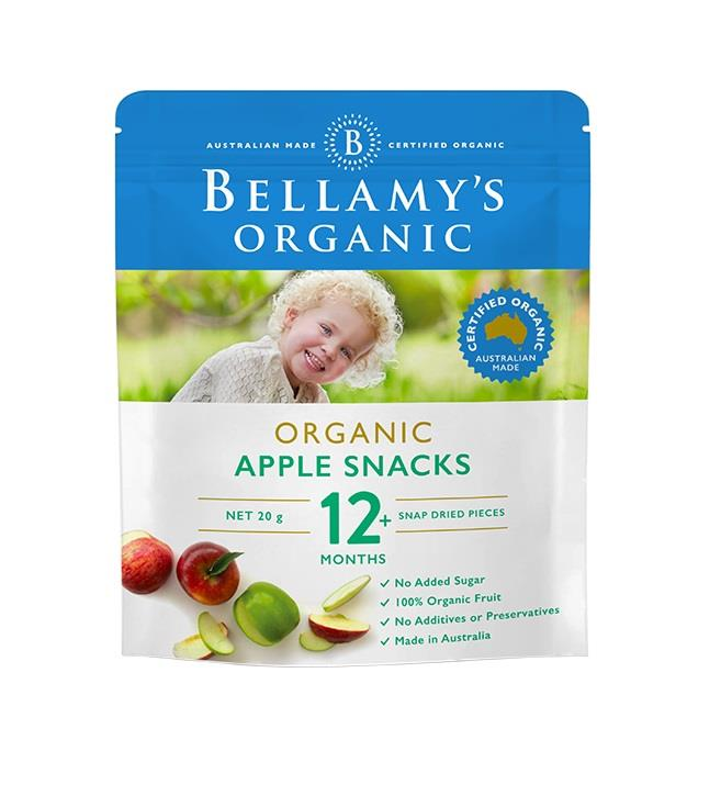 Bellamy's Organic Apple Snacks 20g