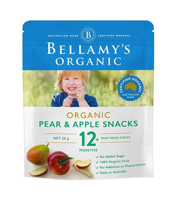 Bellamy's Organic Pear & Apple Snacks 20g
