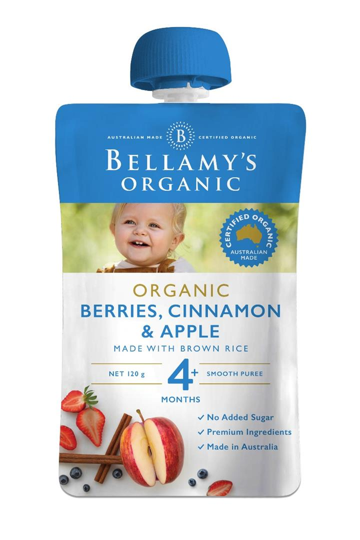 Bellamy's Organic Berries Cinnamon & Apple 120g