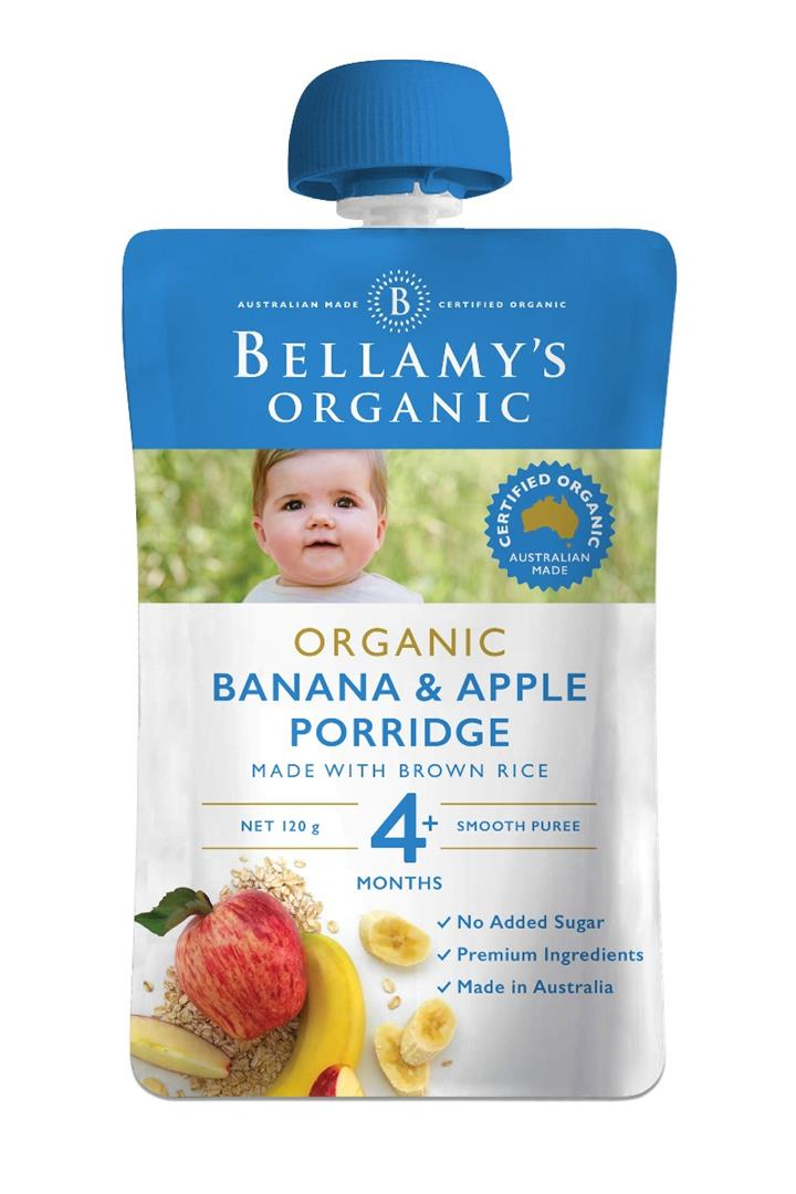 Bellamy's Organic Banana Apple Porridge 120g