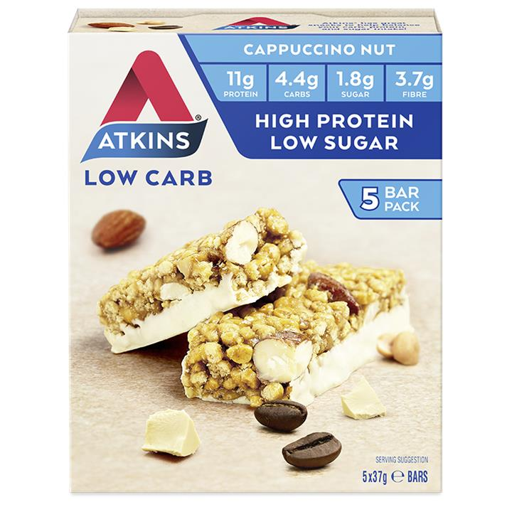 Atkins Day Break Bar Cappuccino Nut 37g X 5
