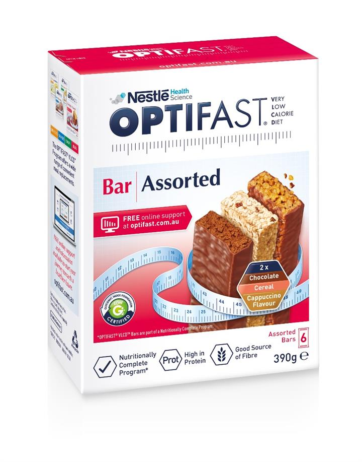 Optifast Bar Assorted Flavours X 6