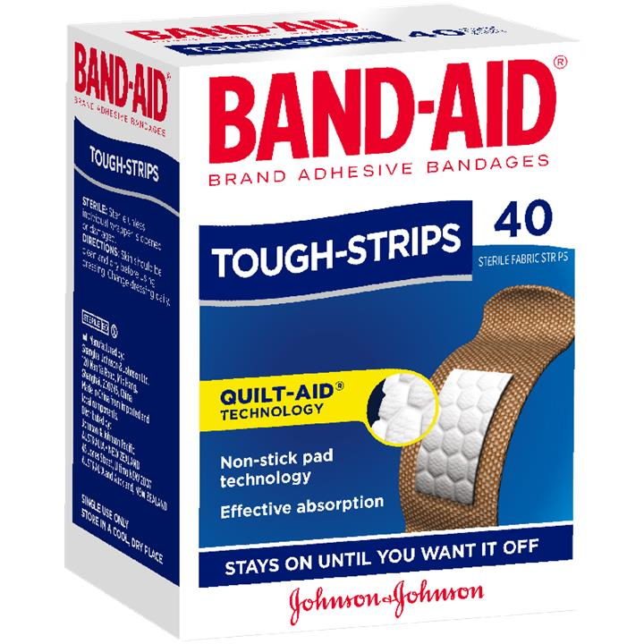 Band-Aid Tough-Strips Regular X 40