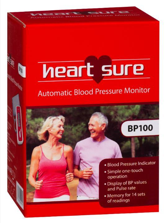 Heart Sure Blood Pressure Monitor BP100
