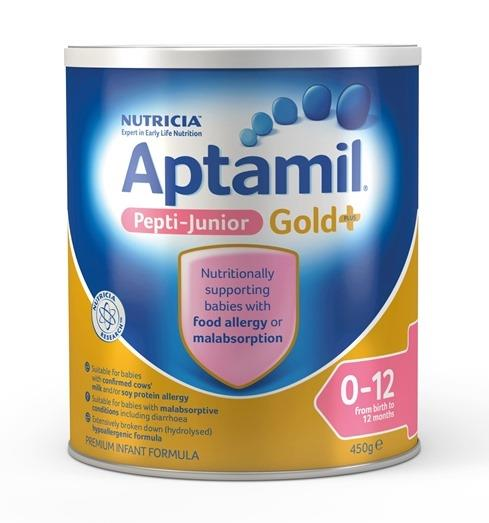 Aptamil Gold Plus Pepti-Junior Infant Formula (0-12 Months) 450g (LIMIT 2 CANS PER ORDER)