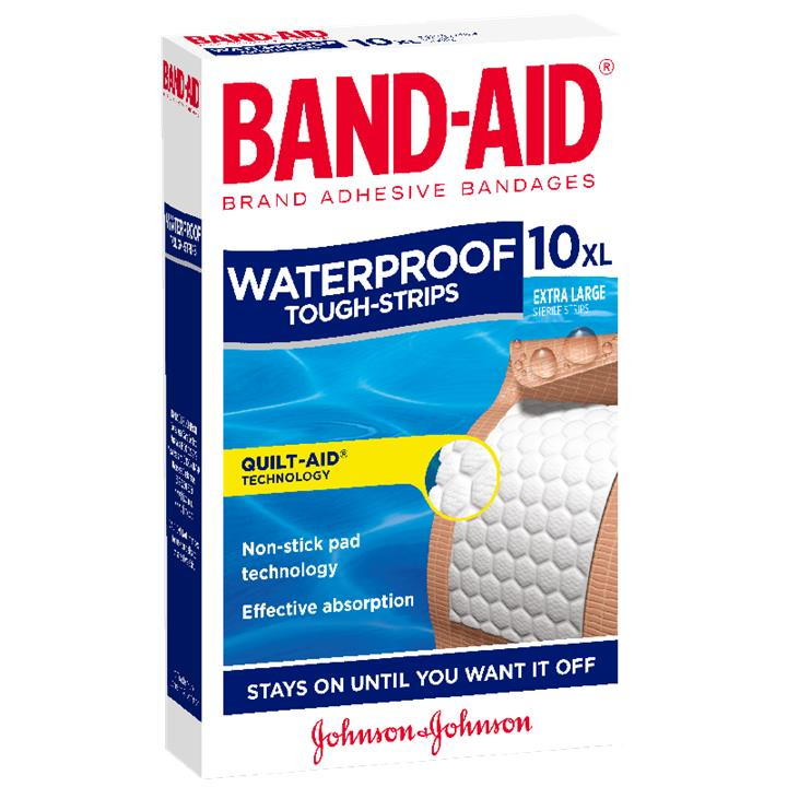 Band-Aid Tough Strips Waterproof Extra Large X 10