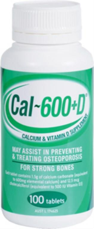 Cal-600+D Tab X 100 (Generic for CALTRATE WITH VITAMIN D)