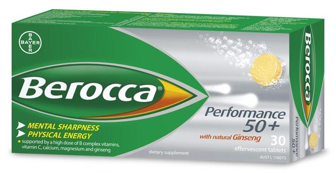 Berocca Performance 50+ Effervescent Tab X 30
