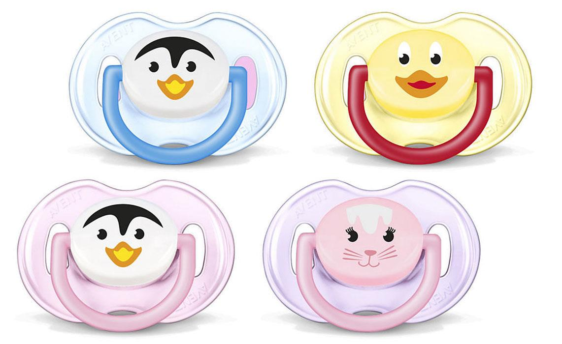 Avent Soother 0-6 Months Animal X 2 (Assorted Designs/Colours)