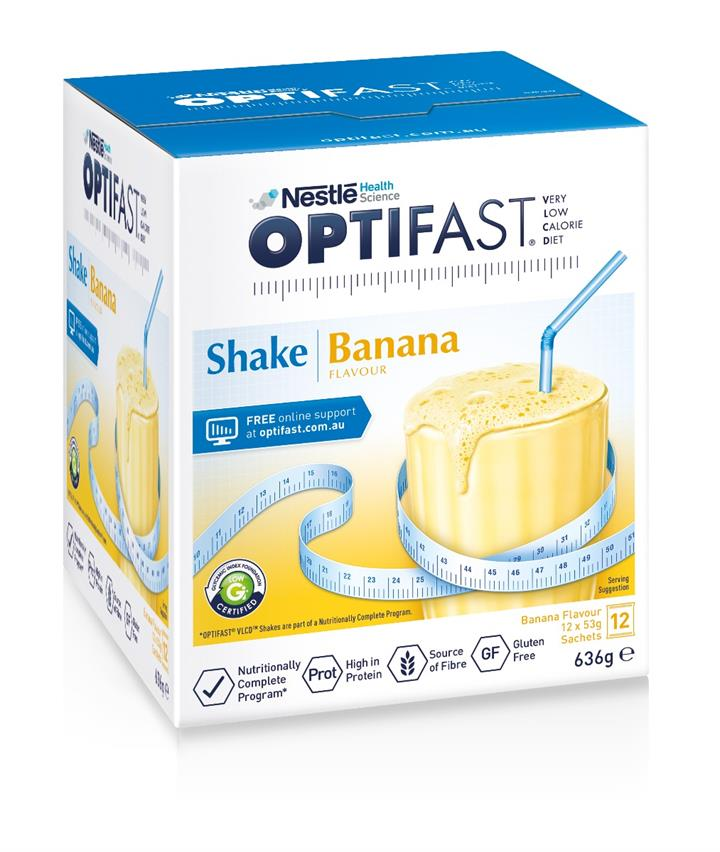 Optifast VLCD Milk Shake (Banana) 53g X 12
